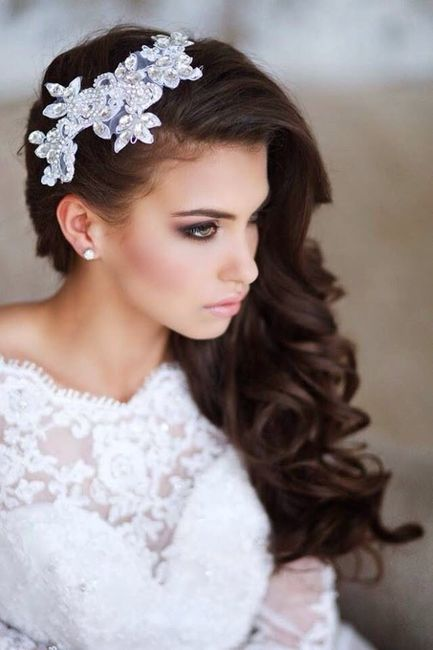Peinado con ondas para novia