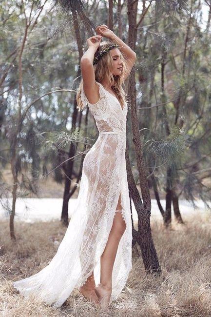 Vestido De Novia Con Transparencias Fotos Bodas Net