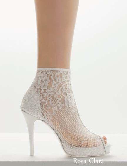 5 zapatos de novia con encaje para ti moda nupcial - Zapateria para ti ...
