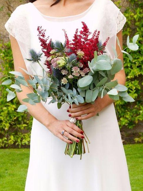Ramo de novia con eucalipto