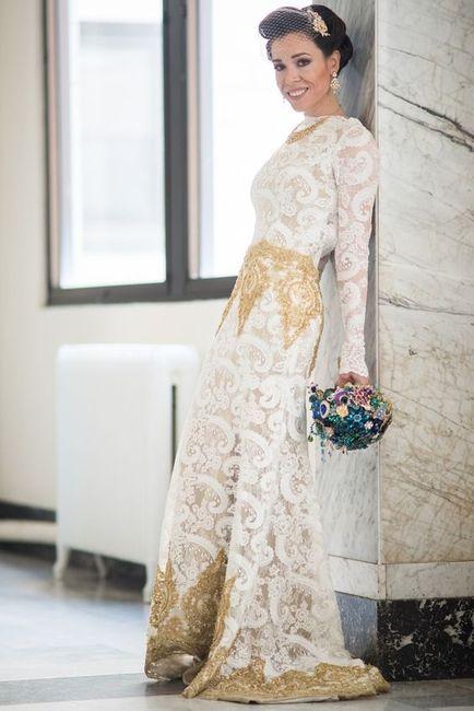 llevarías este vestido con detalles dorados? - moda nupcial - foro