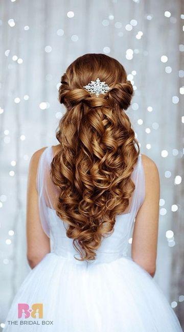 Peinados de novia 2018 semirecogido