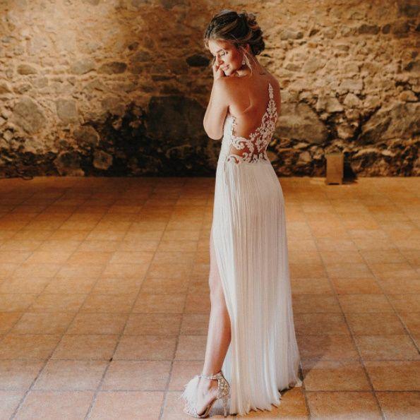 el segundo vestido de novia de laura escanes al detalle! - moda