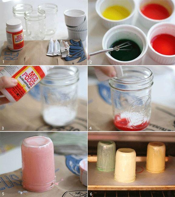 Tarros de cristal de colores
