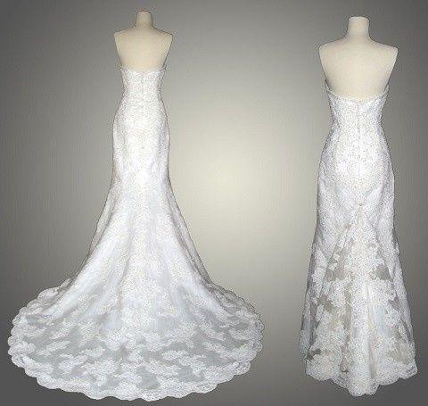 Cuando recoger la cola del vestido de novia