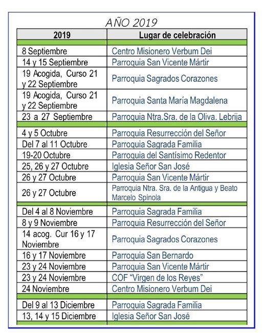 Cursillos prematrimoniales en Sevilla. - 1