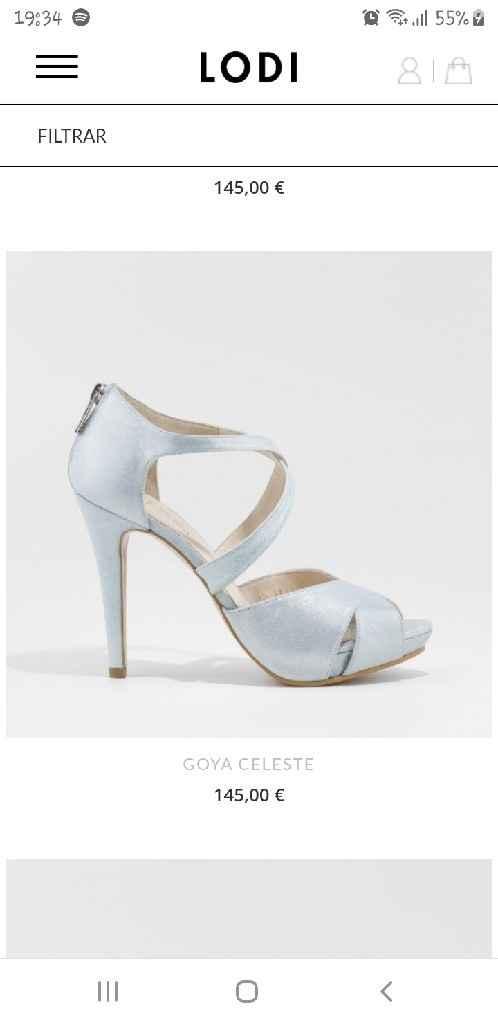 ¿Zapatos de novia azul cielo en Sevilla? - 1