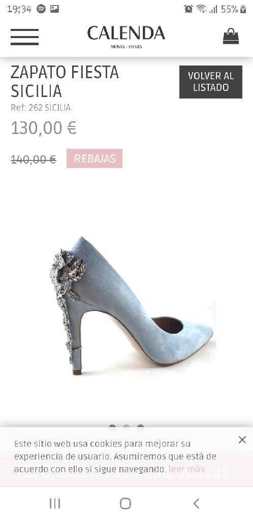 ¿Zapatos de novia azul cielo en Sevilla? - 2
