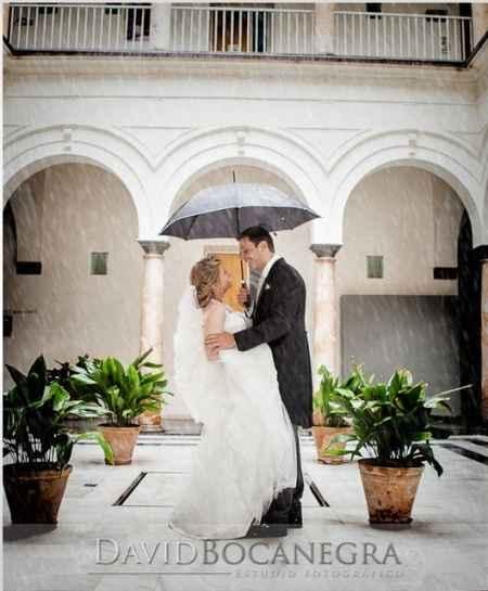 Foto lluvia boda