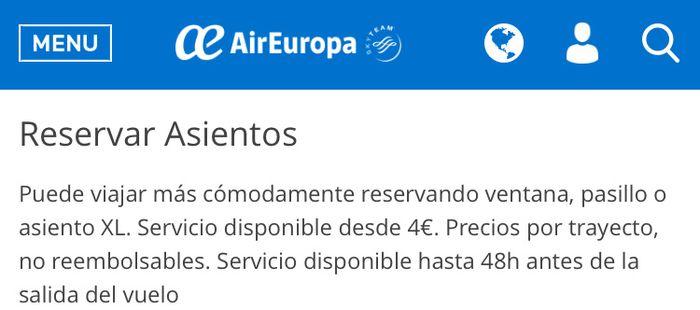 Asignacion asientos Air Europa 1