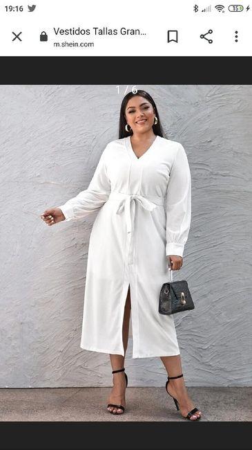 Vestido corto novia talla 48 1