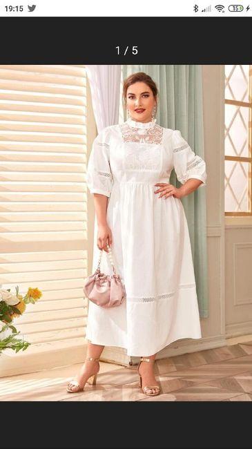 Vestido corto novia talla 48 2