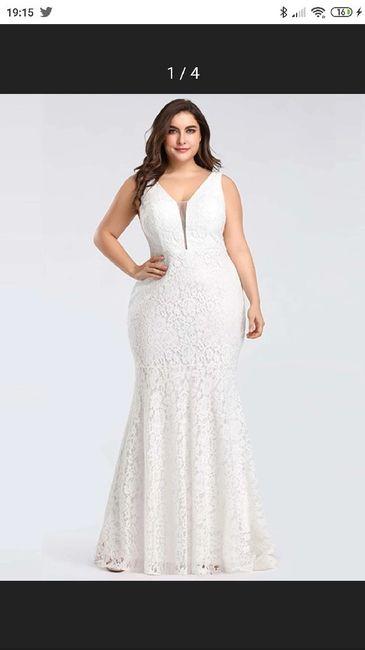 Vestido corto novia talla 48 3