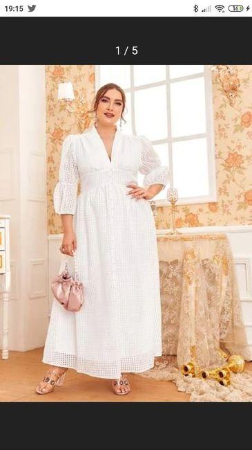Vestido corto novia talla 48 4