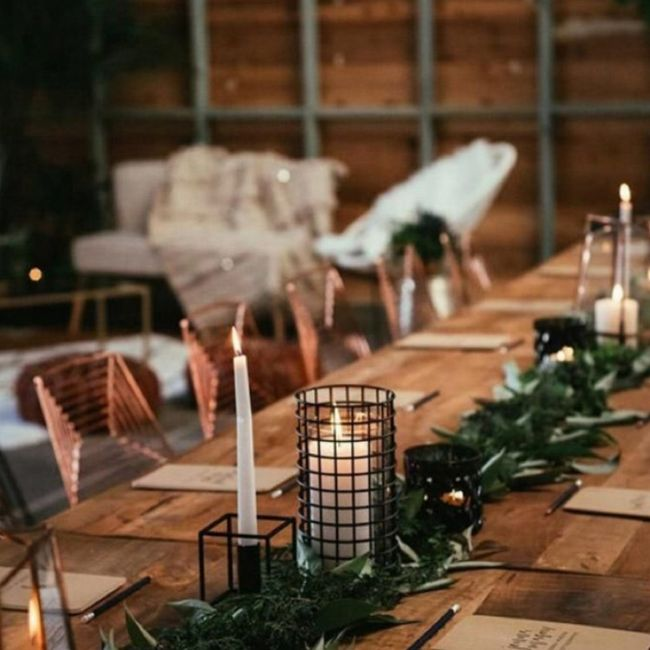 Banquete estilo industrial 3