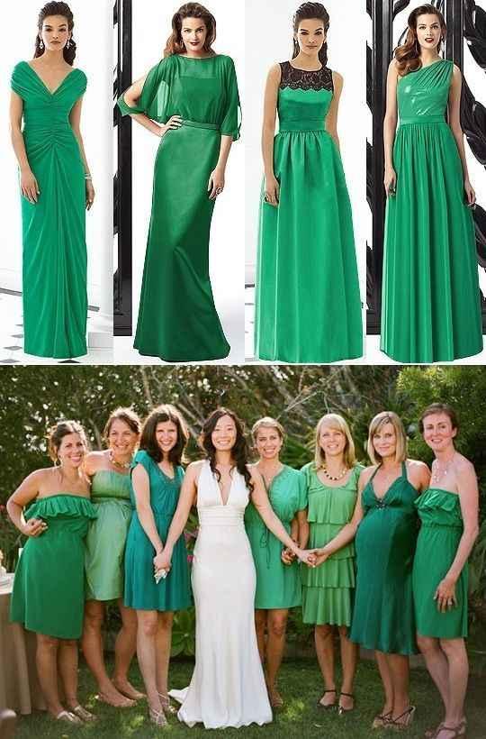 Bodas en tonos verdes y blancos 💚 - 7
