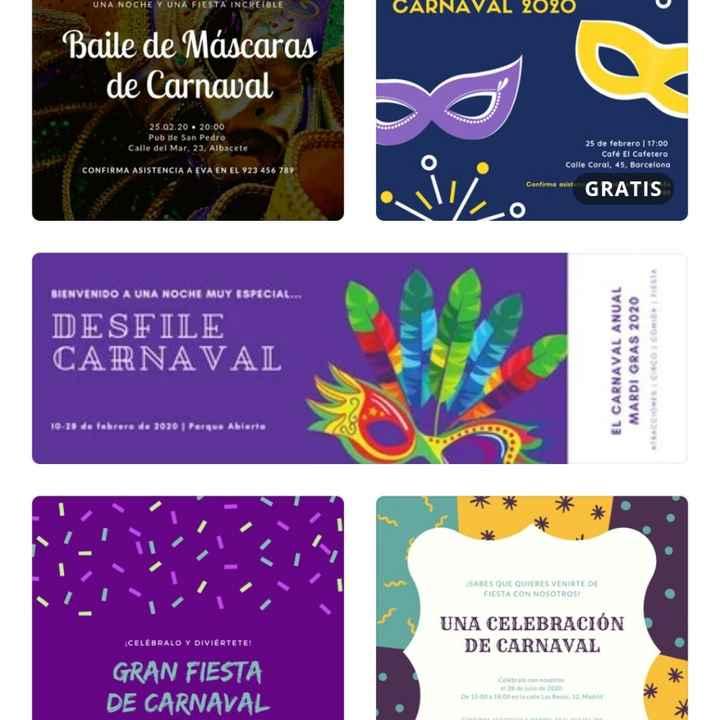 Invitaciones carnaval - 1