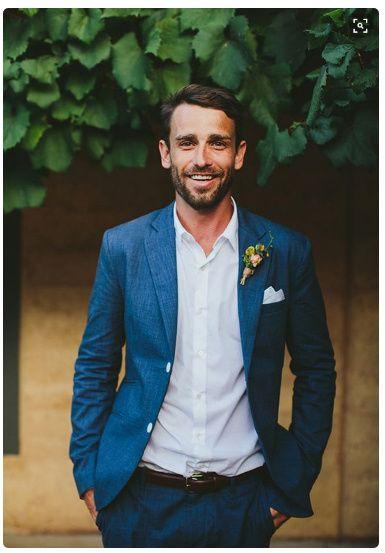 trajes de novio sin corbata