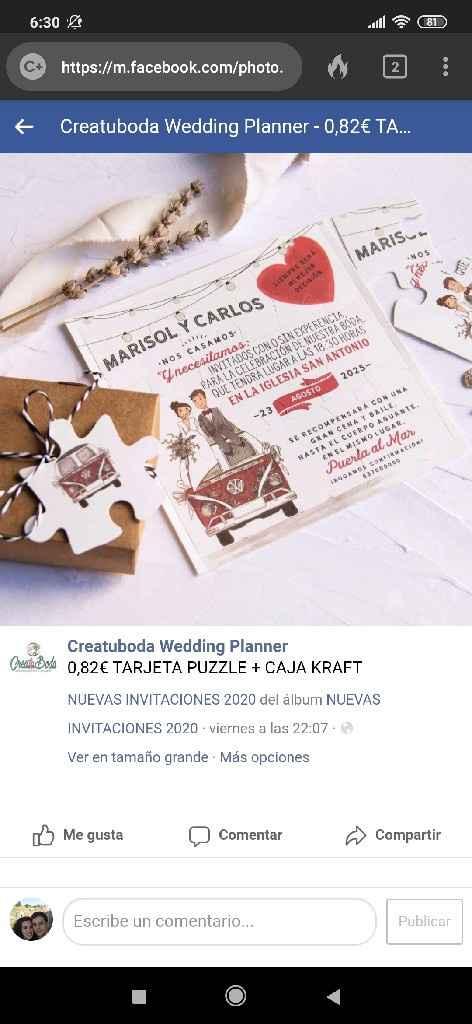 Creatuboda  Wedding Planner invitaciones - 1