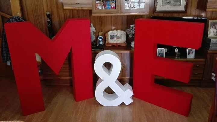 Mis letras gigantes terminadas!! - 1