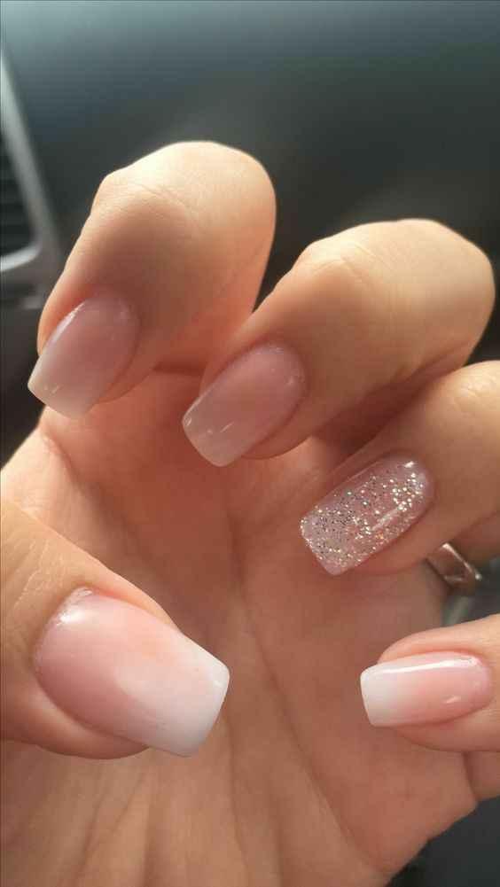 Centro de uñas para esmaltado semi natural para la boda - 1
