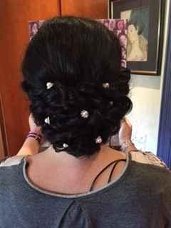 perlas con brillantitos tipo flor