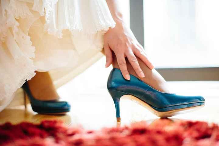 Mis zapatos de novia azules