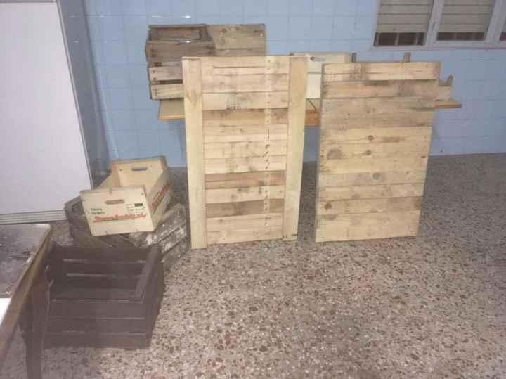 Palets y cajas