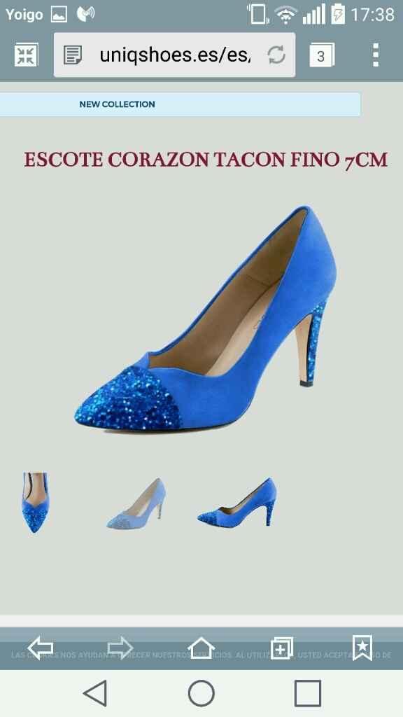 Ayuda!!! zapatos azules - 1