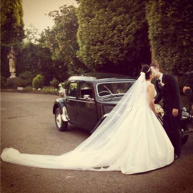 Cola larga vestido de novia. - 1