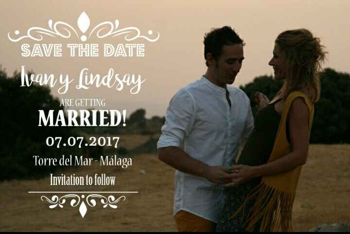 Nuestro save the date! - 1
