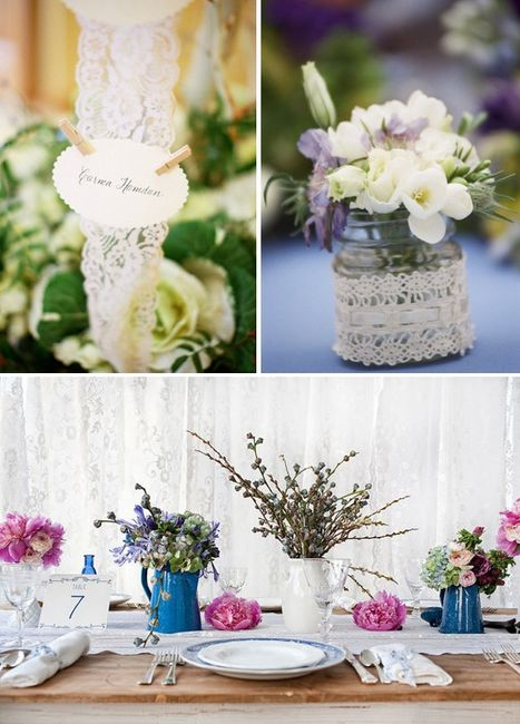 Ideas para decorar tu boda con encaje organizar una boda - Ideas decoracion bodas ...