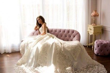 Vestidos novia maxi cola
