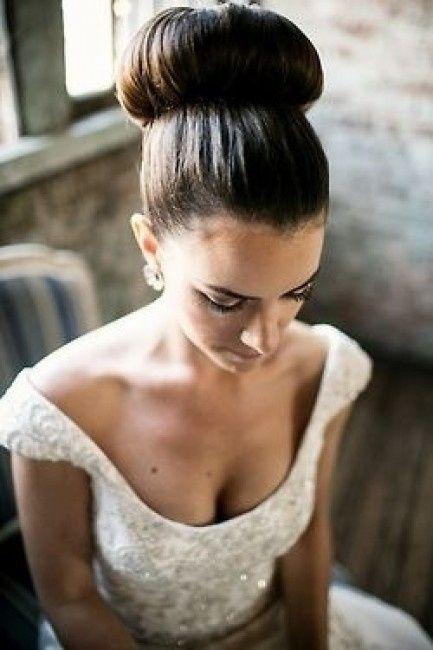peinados novia pelo liso
