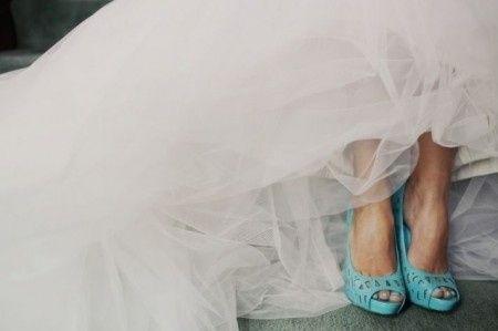 zapatos de novia color turquesa - moda nupcial - foro bodas