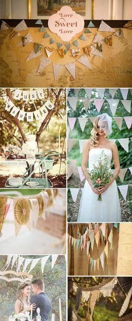 18 ideas para decorar tu boda con banderines organizar - Decorar tu boda ...