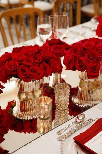 20 ideas para decorar tu boda con rosas rojas organizar for Ideas para decorar una boda