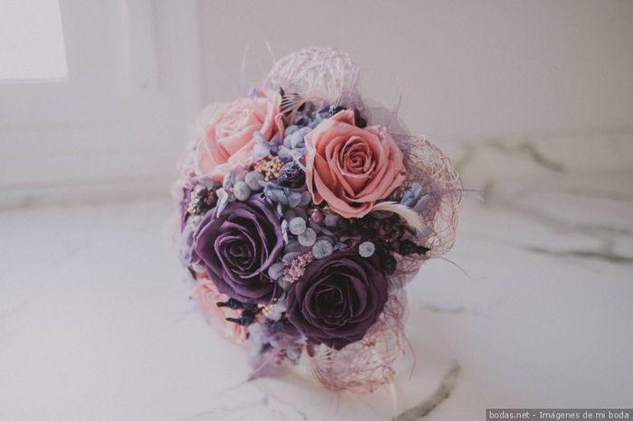 ¿Cuál de estas combinaciones rosas os gusta más para un ramo de novia? 🌸 1
