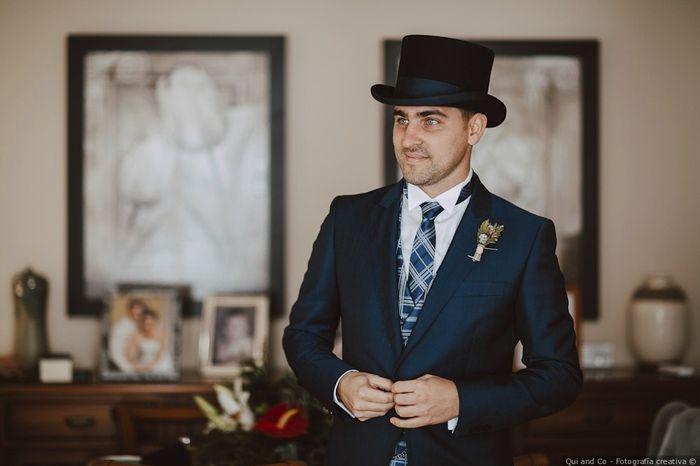 ¿Qué os parecen los novios con sombrero o chistera? 1