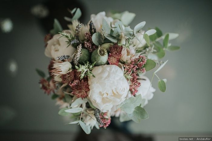 ¿Os gustan los ramos de novia con eucalipto? 1