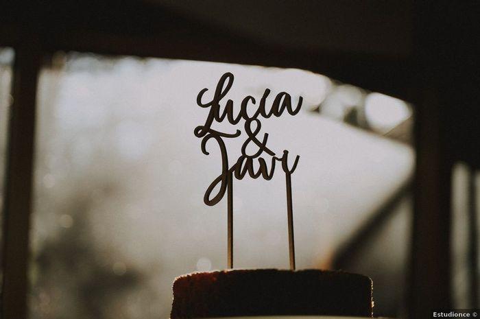 ¿Vuestros nombres en la tarta de boda? 🍰 1