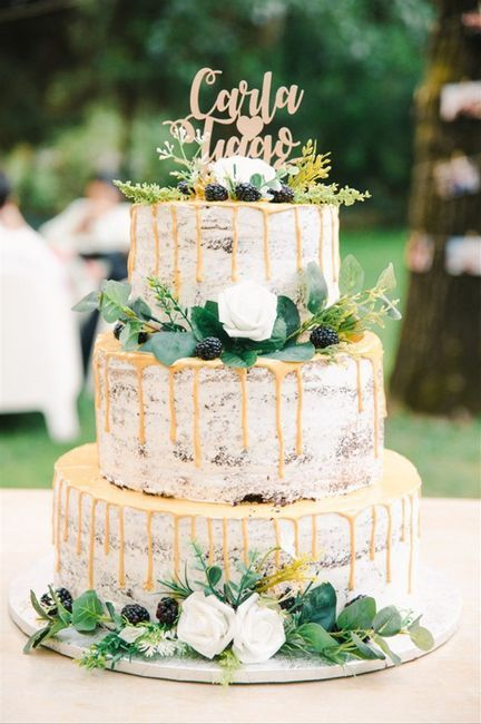 Bodas al aire libre: la tarta nupcial 3