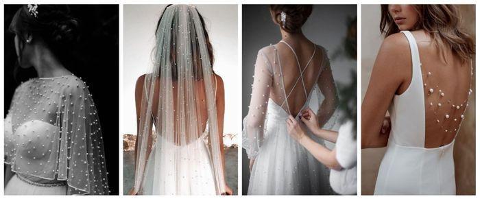 Perlas en el vestido: ¿es un SÍ o un NO? 1