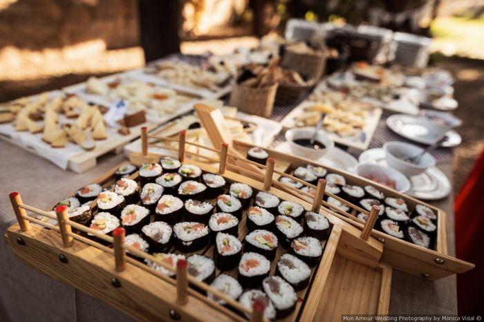 ¿Qué rincón de comidas del mundo pondrías en tu boda? 1
