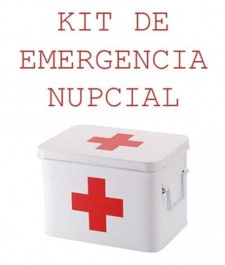 Kit de emergencia para novias y novios, ¿qué piensas? 1