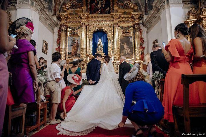 En la ceremonia, ¿de cara o de espalda a los invitados? 1