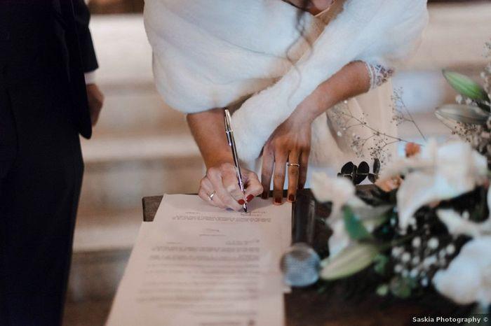 ¿Cuántos testigos firmarán el día de la boda y quiénes son? 1