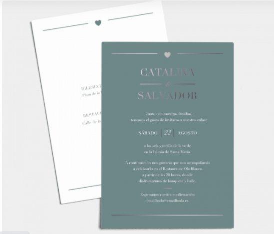 Mis invitaciones: ¿de estilo minimalista? 2
