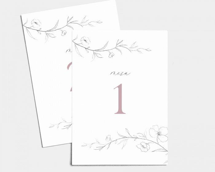 Mis invitaciones: ¿a juego con los números de mesa? 2