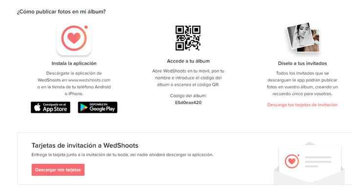 Aplicación Wedshoots - 1